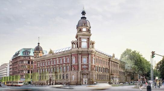 Zahnarzt Hamburg Innenstadt - Außenansicht der alten Oberspostdirektion